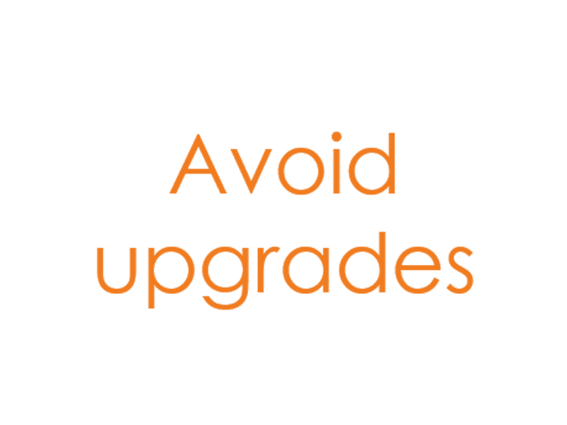 Upgrade, support click through