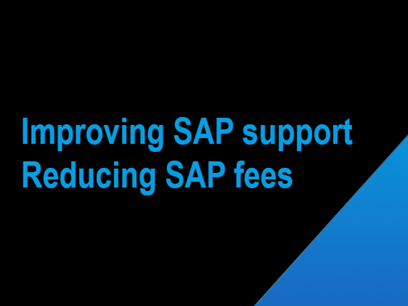 SAP support maintenance