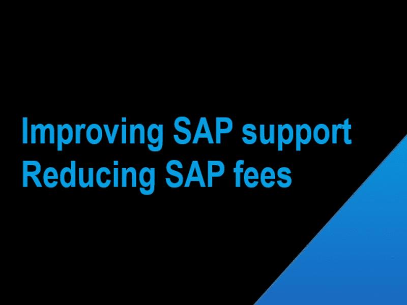 SAP support maintenance