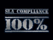 100% de conformidade com o SLA