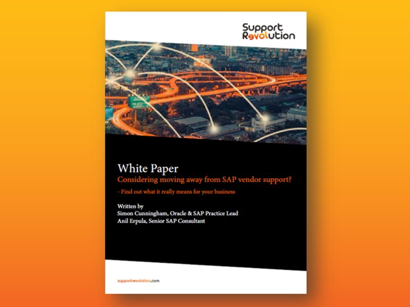 How to give notice to SAP white paper