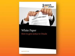 How to give notice to Oracle white paper