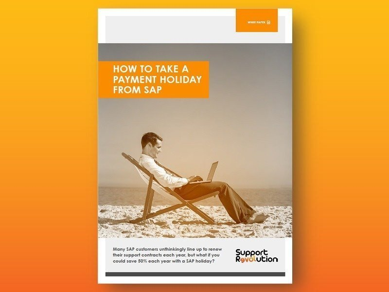 How to take a payment holiday from SAP