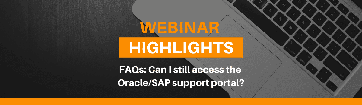 Can I still access the Oracle/SAP support portal