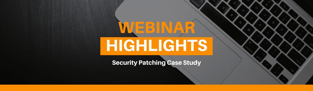 webinar security patching